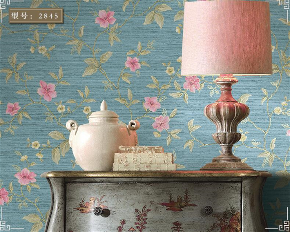 beibehang Modern Chinese nonwoven 3d wallpaper Pastoral retro floral bedroom living room entrance background wallpaper tapetybeibehang Modern Chinese nonwoven 3d wallpaper Pastoral retro floral bedroom living room entrance background wallpaper tapety