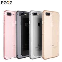 PZOZ For Iphone 7 Case Silicone Cover Original For Iphone 7 Plus Transparent Color Slim Phone