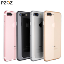 PZOZ Luxury Brand TPU Silicon Slim Clear 360 Transparent Silicone Case Cover For Apple iPhone 7 Plus 7Plus iPhone 8 Plus Case