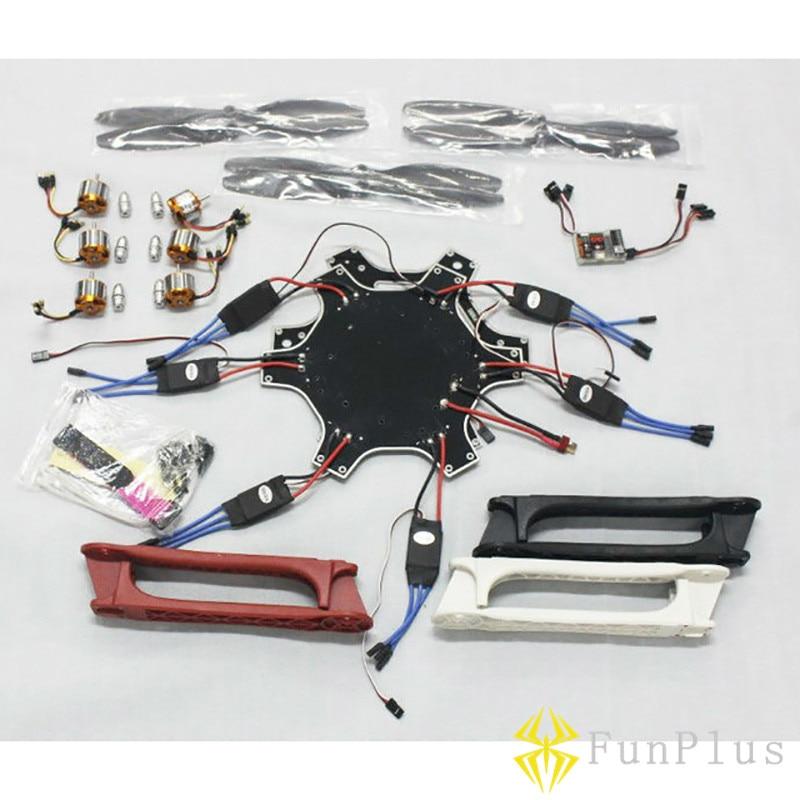 F550 Hexacopter Frame QQ Flight Controller 30A ESC 2212 1000KV Motor 1045 Carbon Fiber Prop Propeller Multicopter Combo