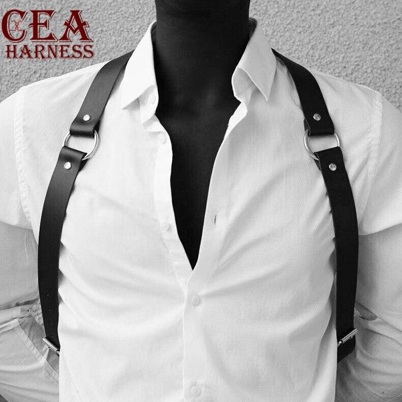 Offen Cea Damengürtel Harness Harness Männer Bondage Dessous Homosexuell Bdsm Männer Bondage Leder Harness Männer Homosexuell Gothic Körper Brust Halbe Harness Gürtel