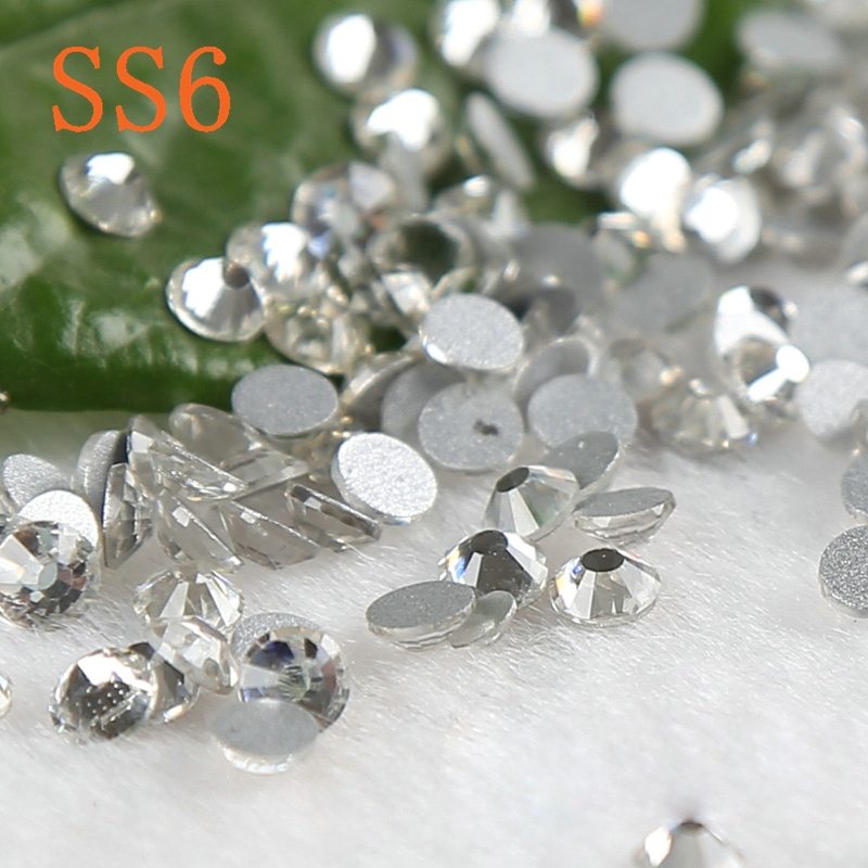 Nail stick rhinestones white crystal 3d Nail Art decorations Non Hot Fix Glue on Rhinestones in Rhinestones from Home Garden