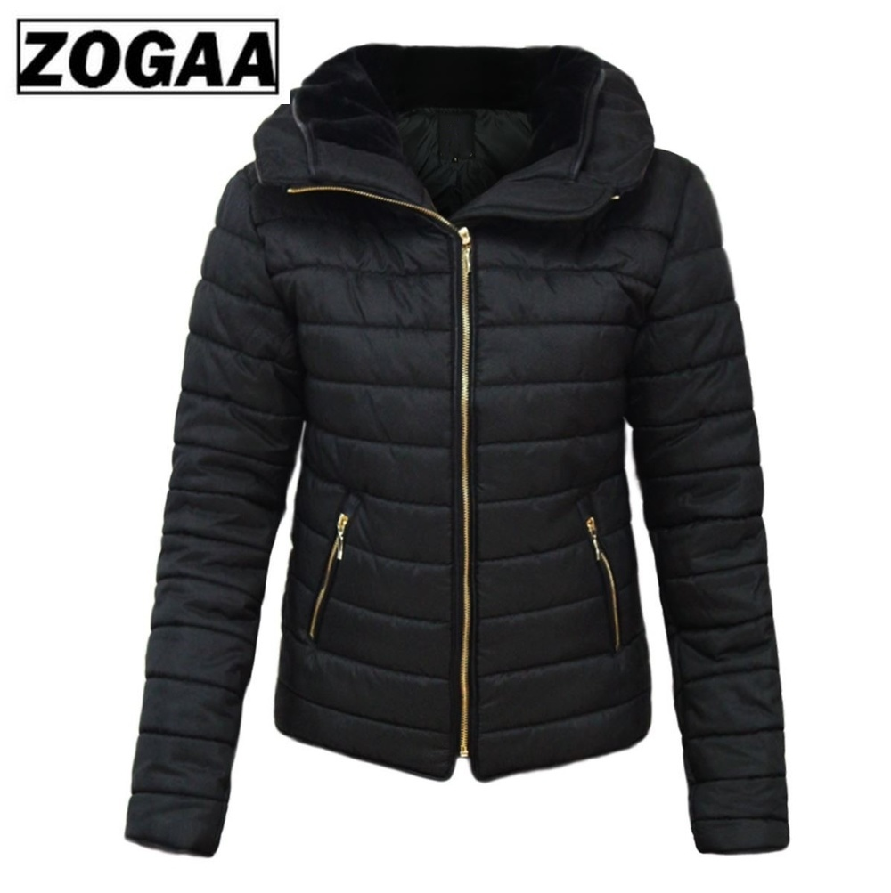 ZOGAA Hot Sale Women Coats Winter Jacket Parka Women Brand Hooded Coat Causal Slim Fit Solid Color Winter Girl Thick Clothing