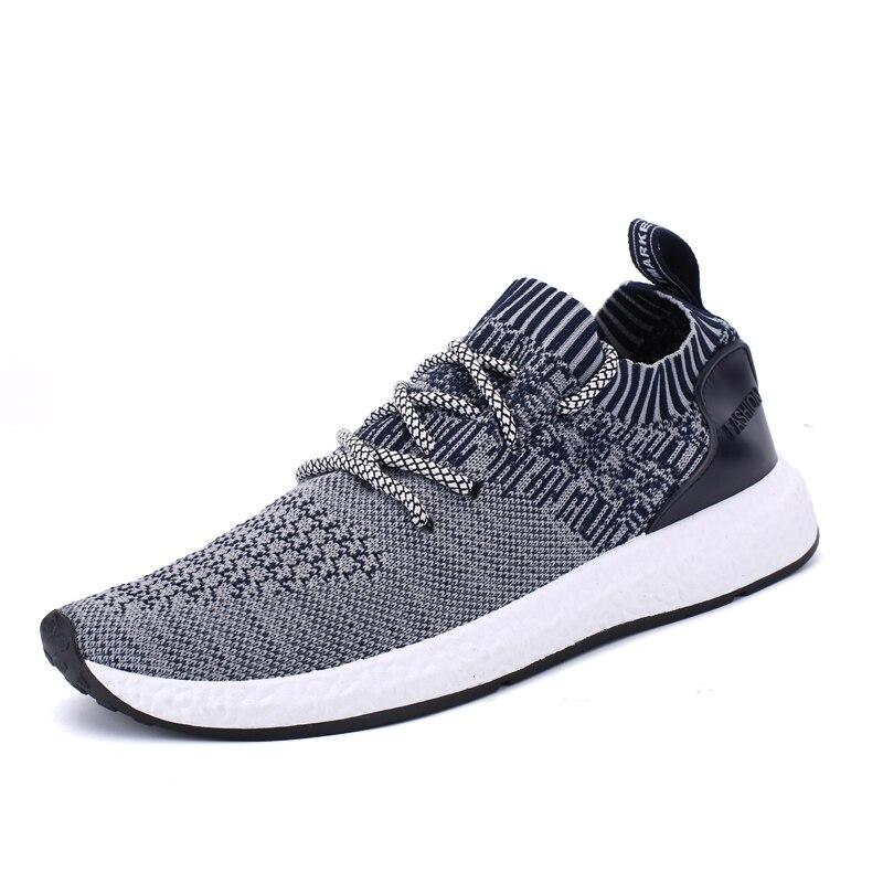 ФОТО HKL Mens Air Mesh Casual Shoes tenis feminino zapatillas Flat Comfortable Breathable Superstar shoes Trainers Zapatillas Hombre