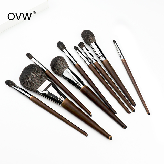 OVW All Goat Hair 7/8/9 PCS Makeup Brush Set Professional Cosmetic conjunto pinceis de maquiagem for Eye Shadow Face Contour 4