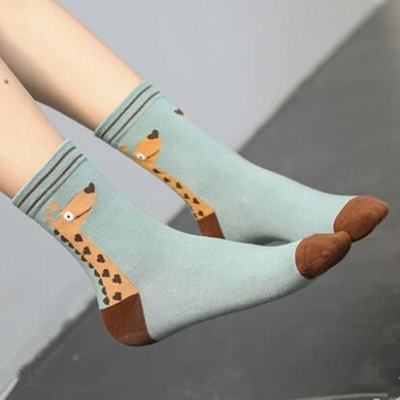 2017 Women winter socks animal cotton middle socks fashion socks 25 pairs