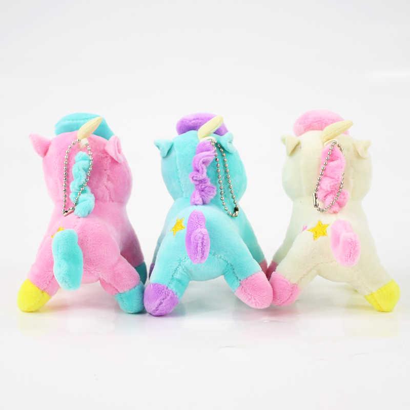 3 вида стилей плюшевая игрушка единорог Белый Розовый Зеленый Единорог Лошадь мягкая кукла детская кровать время брелок для ключей с единорогом подвески