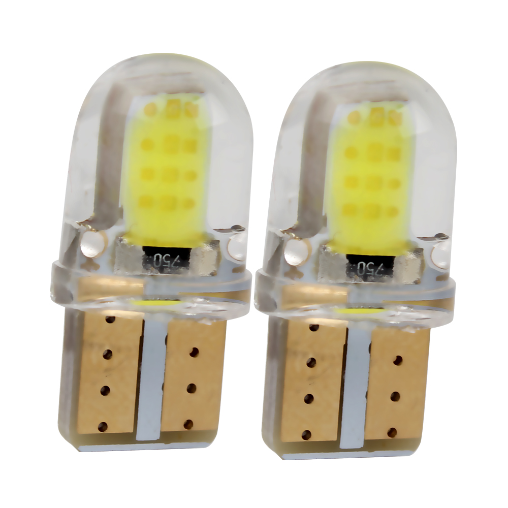 2pcs/set T10 LED Car Licence Plate Light Dome Reading Lamps COB DC 12V Car Light Source Auto Accessories Car-styling