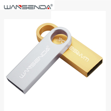 WANSENDA Keychain USB Flash Drive 64G 32G Waterproof Pen Drive 4G 8G 16GB Cle USB Stick External Storage Pendrive Flash Drive