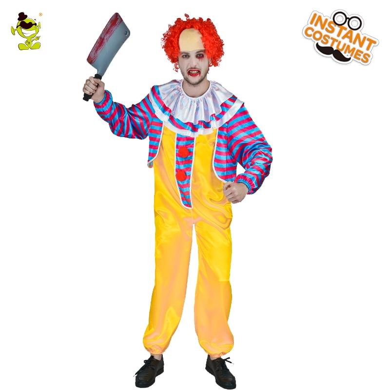 Adult Men S Killer Clown Costume Cosplay Halloween Party