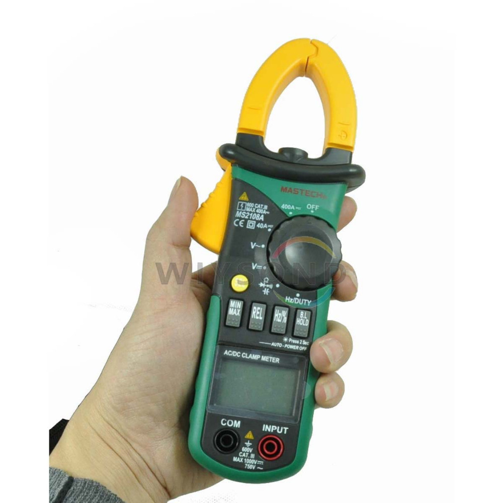 M047 New MASTECH Professional MS2108A 4000 Counts AC DC Current Clamp Meter Backlight цена