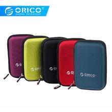 ORICO 2 5 Cal HDD i SSD torba ochronna nylonowy zamek etui mini powerbank Caseelectronic organizator walizka tanie tanio 2 5 HDD Protection Bag Black Red Green Purple Blue Neoprenu Interlayer design