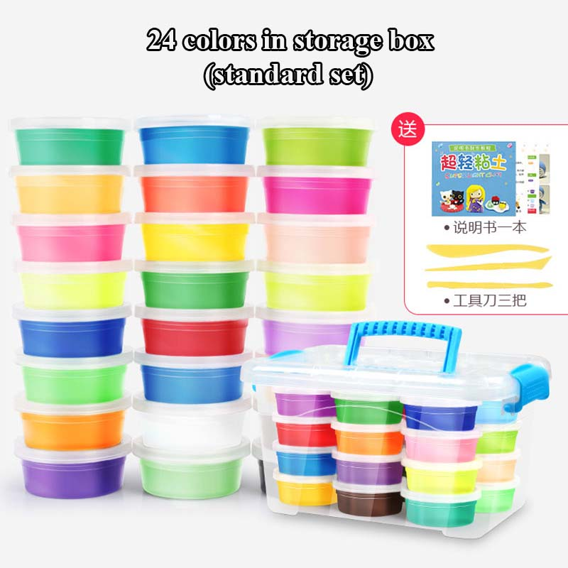24-Colors-36-Colors-Super-Light-Modeling-Clay-Set-Air-Dry-Soft-Plasticine-Plastilina-Play-Dough-Playdough-Polymer-Clay-DIY-Toy-1