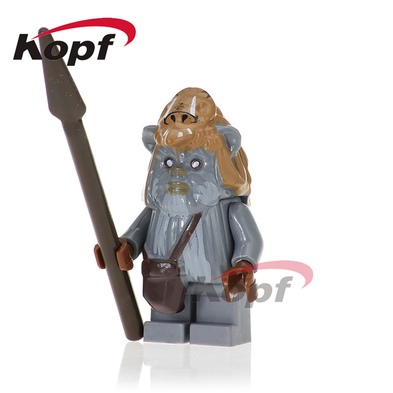 50Pcs PG740 Star Wars Teebo Ewok Warrior Watto Endor Wicket 10236 Ewok Building Blocks Bricks Figures Children Gift Toys PG8067