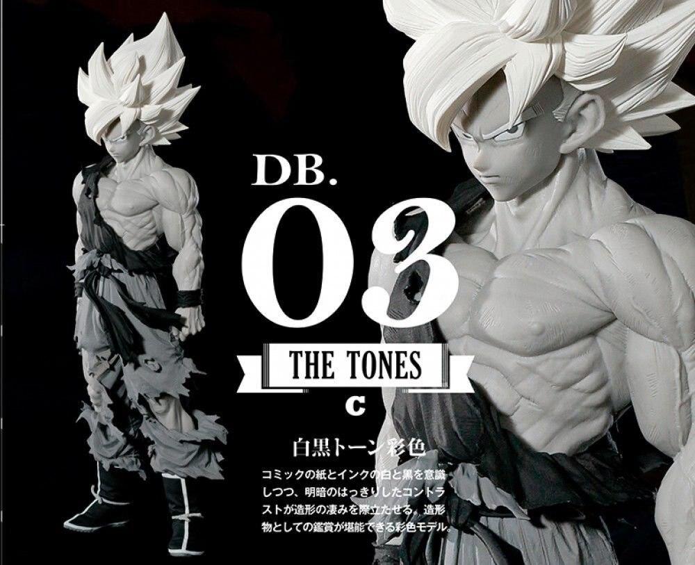 ФОТО Dragon Ball SuperNew  Master Stars Piece Super Saiyan SON GOKOU GOKU Figure 03 Monotone Color BANPRESTO GOKU 35CM