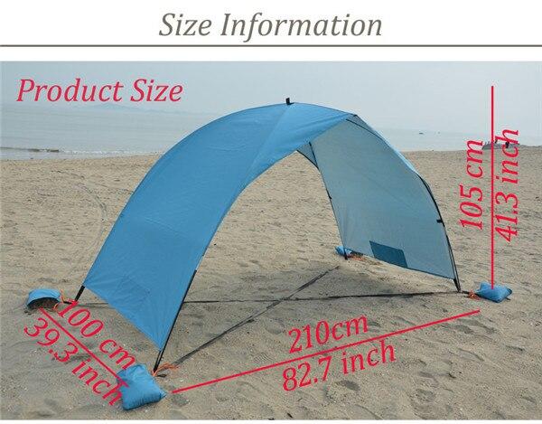 strandtent cabana acampamento pesca toldo toldo praia tenda dossel