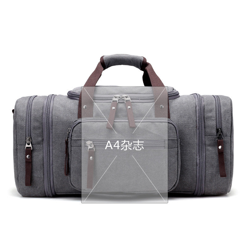 KVKY Brand 2017 New Travel Bags Men Large Capacity Handbag Luggage Travel  Duffle Bags Canvas Multifunctional Business Bags-in Travel Bags from Luggage  ... 6fcb7cedf00f4