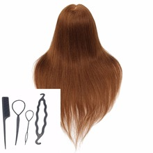CAMMITEVER 20 '' Golden Golden Hair Hairdressing Training Head Mannequin Practice Mannequins for Women Corso di formazione per parrucchieri