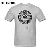 Mens Tee Shirts Valknut Wotan S Knot Runes Odin Walhall Vikings Adult 100 Cotton Shorts T