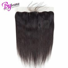 13x4 Brazilian Ear to Ear Closure 100% Straight Human Hair Top Lace Weave Frontal Closure Remy Hair Piece Free Part Frontal стоимость