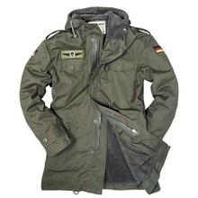 Немецкая армейская военная куртка мужская зимняя хлопковая куртка термо Тренч с капюшоном Куртки Флисовая Подкладка пальто