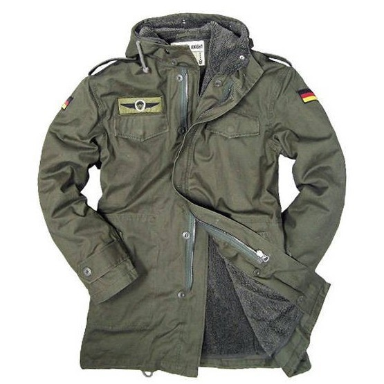 German Army Military Jacket Men Winter Cotton Jacket Thermal Trench with Hood Jackets Fleece Lining Coat garment bag