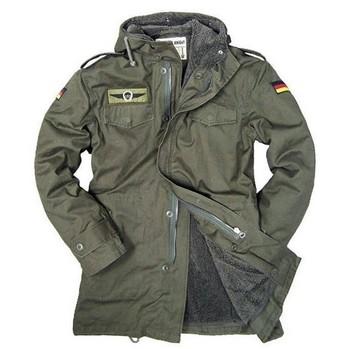 Armia niemiecka kurtka wojskowa mężczyźni zimowa kurtka bawełniana wykop termiczny z kapturem kurtki podszycie polarowe płaszcz tanie i dobre opinie Start battle Dragon Unisex Winter AUTUMN Pasuje mniejszy niż zwykle proszę sprawdzić ten sklep jest dobór informacji