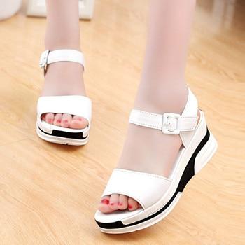 Fashion Summer Sandals Shoes For Women Peep-toe Low Shoes Roman Sandals Ladies Open Toe Flip Flops Sandalias Mujer Flat Slippers римские сандали