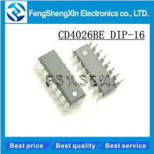 10pcs/lot CD4026BE DIP-16 CD4026 CMOS Decade Counters/Dividers ic