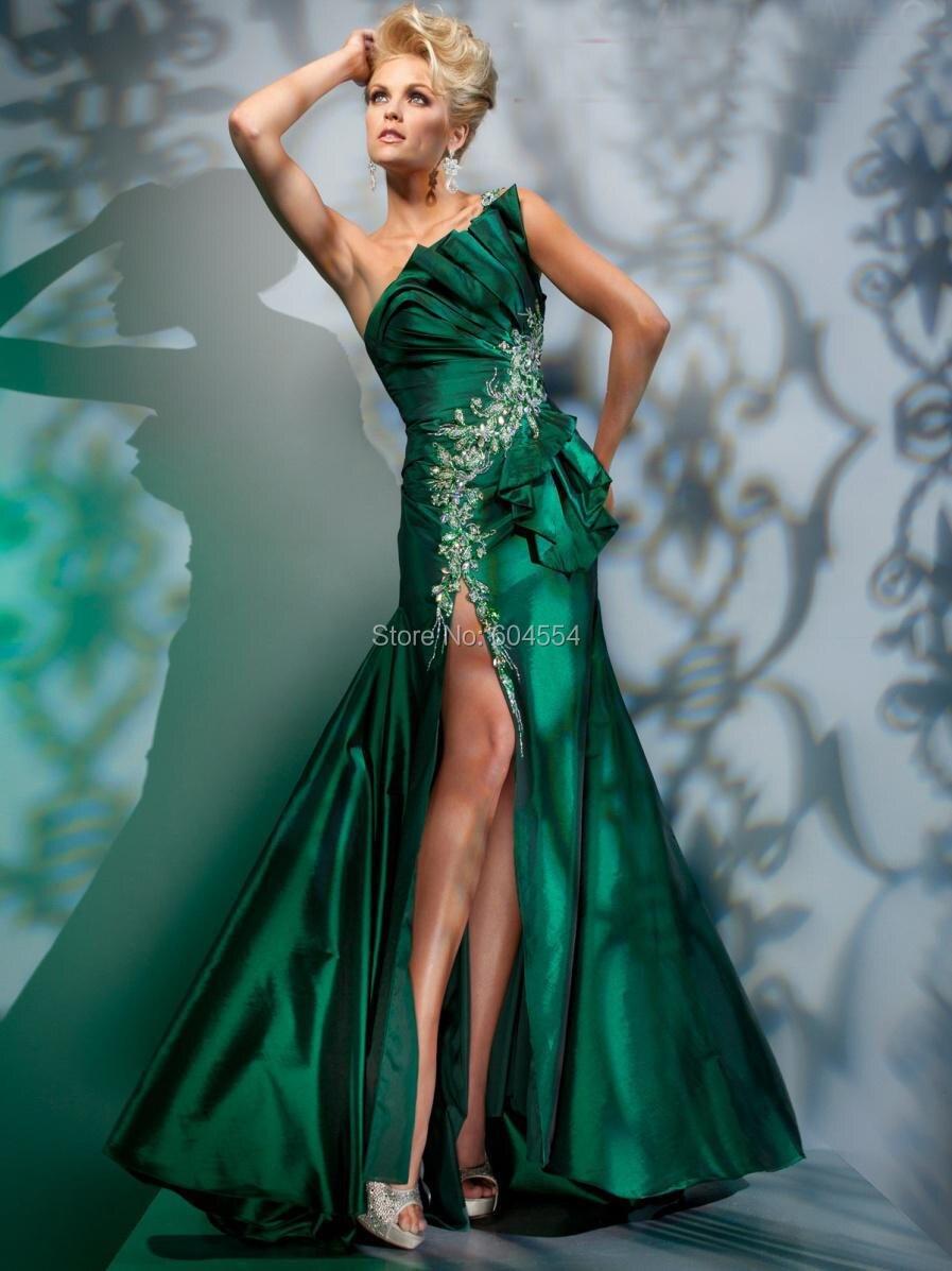 Vestido de festa verde lodo