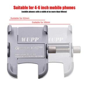Image 2 - Универсальный держатель для телефона BuzzLee из алюминиевого сплава с usb зарядным кронштейном на руль для подставки для телефона 4 6 дюймов