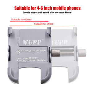 Image 2 - Buzzleeオートバイユニバーサルアルミ合金電話usb充電器ハンドルのための4 6インチ電話用スタンドホルダー