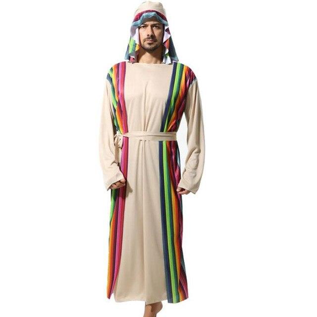 2018 Nouveaux Adultes Homme Arabe Guerrier Costume Arabie Dubai Robe  Moyen,Orient Berger Cosplay Costume
