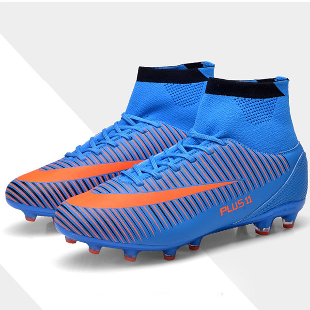 f2fddebf4 ... Cleats Shoes TF/FG Ankle Top Football Boots Soccer Training Sneakers  Child Sports Shoes EU32--38 141.5 Lei. Black FG Sole. Black turf Sole. Blue  FG Sole