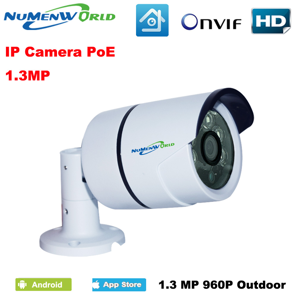HD IP Camera POE Outdoor 1.3MP 1280x960P Night Vision ONVIF H.264 Motion Detection Email Alert Remote View Via Smart Phone/PC hbss 4ch 1 0m hd 2tb hdd poe ip66 waterproof motion detection 1280 720p ir night vision outdoor mult lang surveillance system