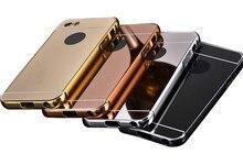 Hc01 5c тонкий золотой металл алюминий case чехол для iphone 5c коке роскошные акриловые зеркало задняя крышка case для iphone 5c capinhas
