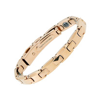Rose Gold Plating Men Wholesale Energy Balance Pure Germanium Magnet Handmade Bracelets Magnetic Bracelet Bangles Free