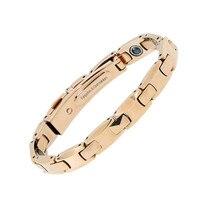Rose Gold Plating Men Wholesale Energy Balance Pure Germanium Magnet Handmade Bracelets Magnetic Bracelet Bangles Free