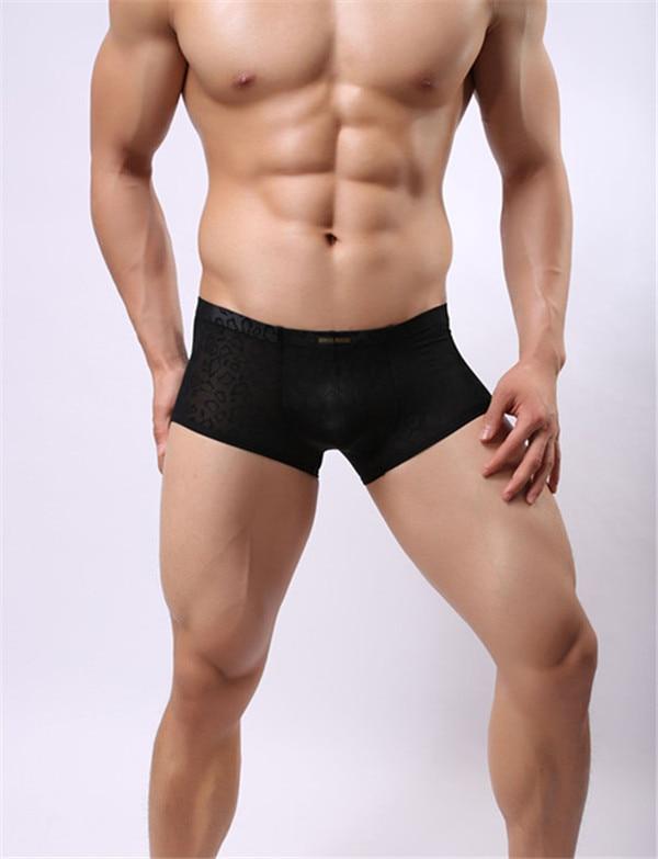 2e59b15d914 HOT SELL Men Boxer Underwear Man Gay Boy Underpants Cueca Boxer Short calzoncillos  hombre Men s Transparent pants boxer man. Anniversary Sale ...