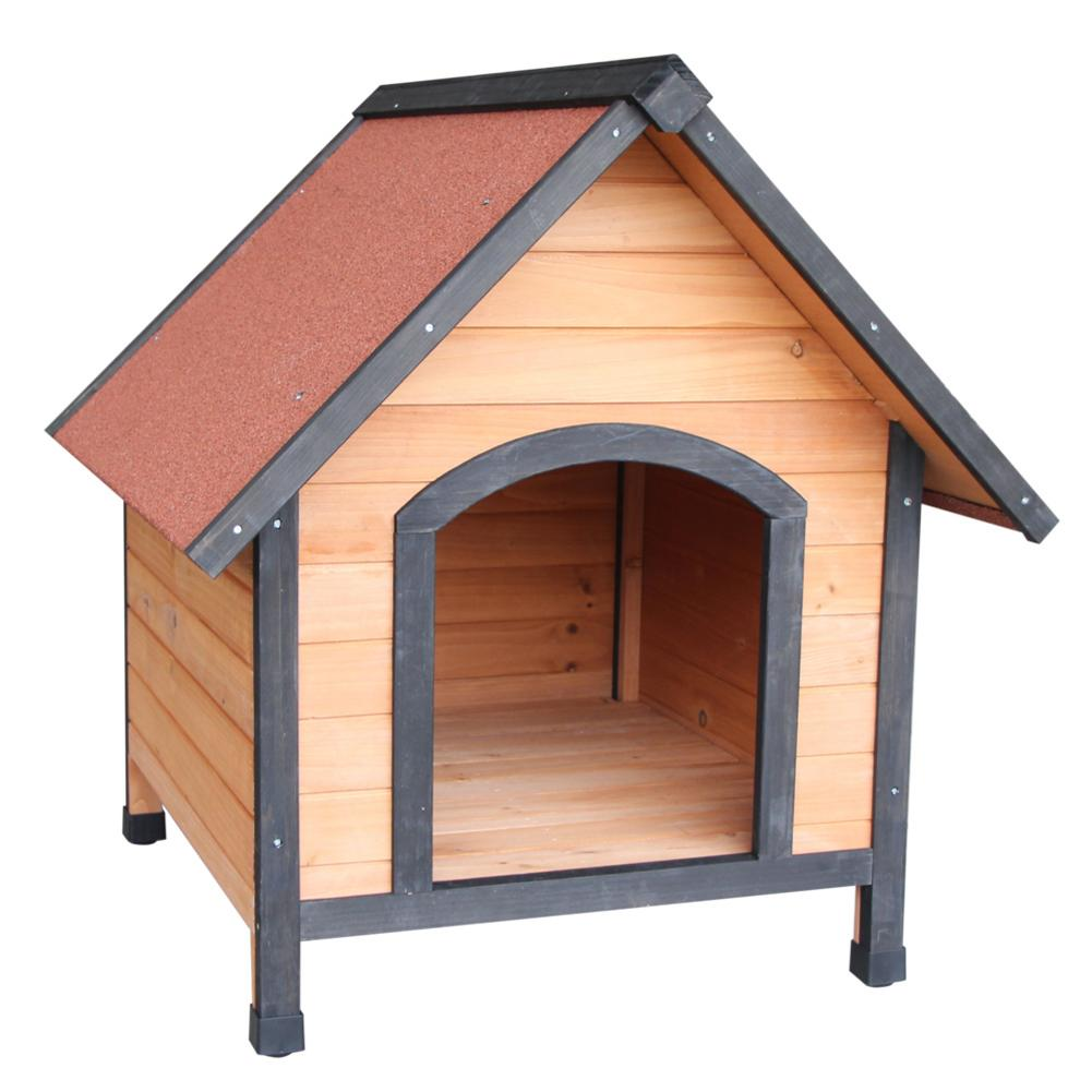 1 Pcs Orange Red New And High Quality <font><b>Dog</b></font> <font><b>House</b></font> Pet <font><b>Outdoor</b></font> Bed <font><b>Wood</b></font> Shelter Home Kennel Waterproof Durable Pet <font><b>Dog</b></font> Nest image