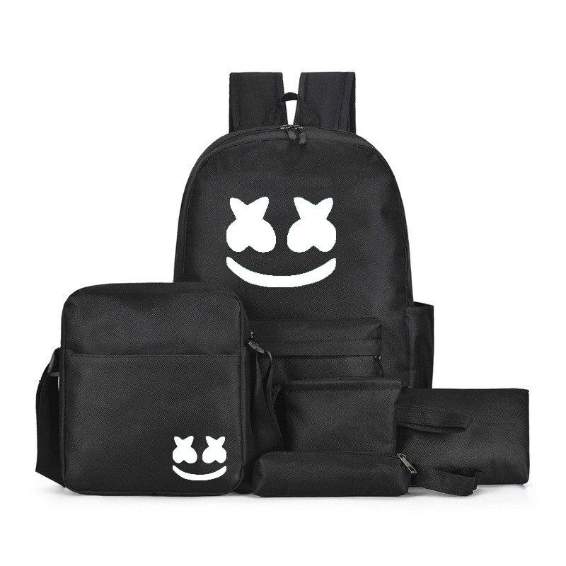 Dj marshmallow multifunction mochila conjunto para meninos