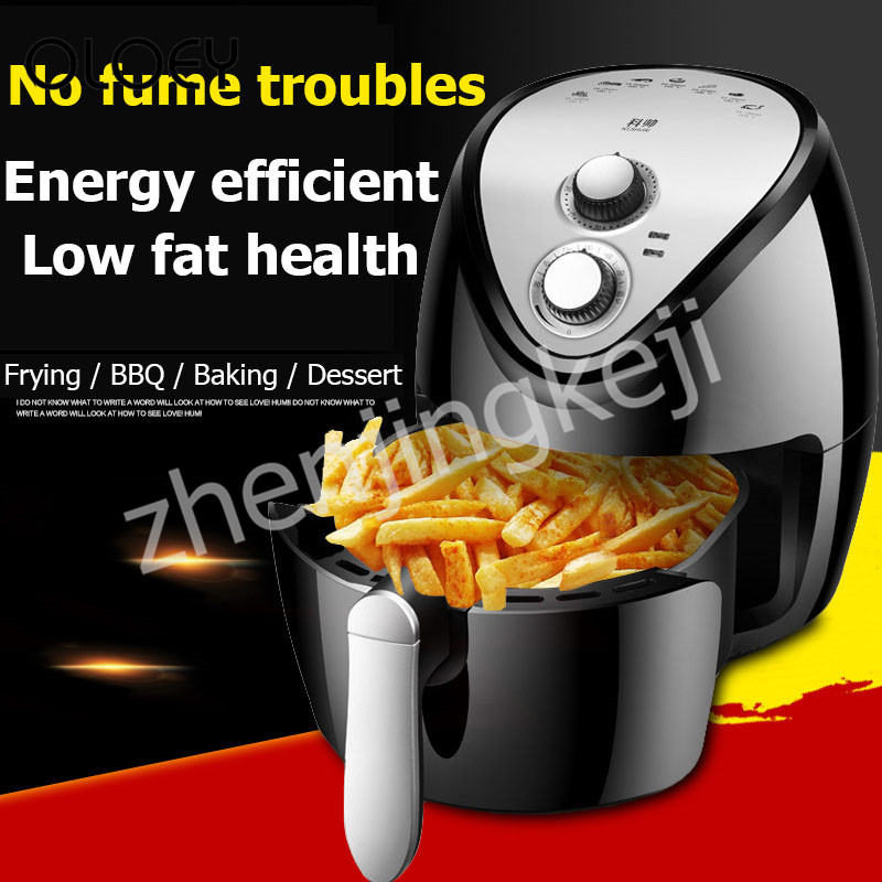 220V Household Air Fryer large Capacity New Generation intelligent Smoke-free Fries Machine 1300W Electric Fryer