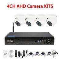 1080N 4CH AHD DVR 720P 960P 1080P Three Array Led AHD CCTV Security Camera KIT Free