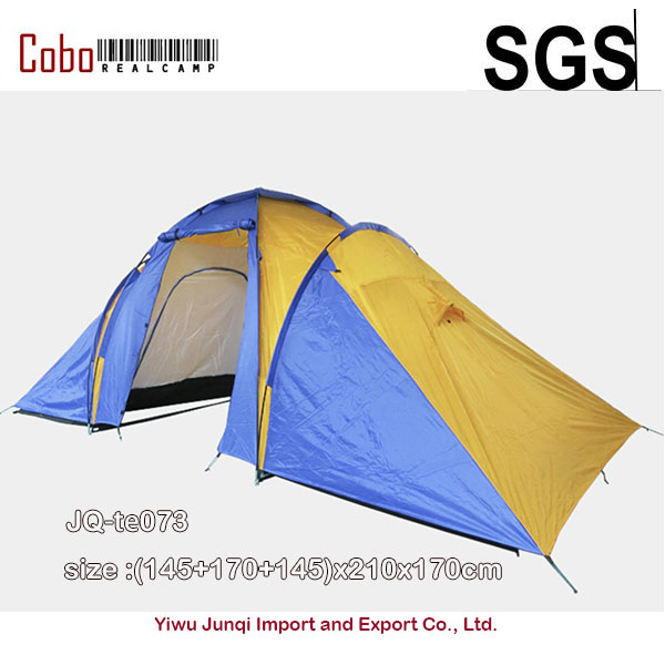 5 8 Person Family Camping Dome Tent Canvas Hiking Beach 2 Room 210T