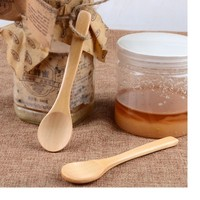 500pcs Small Fragrant Wooden Spoon Deep Mouth Honey Spoon Multifunction Coffee Jam Wooden Spoons Kitchen Tools