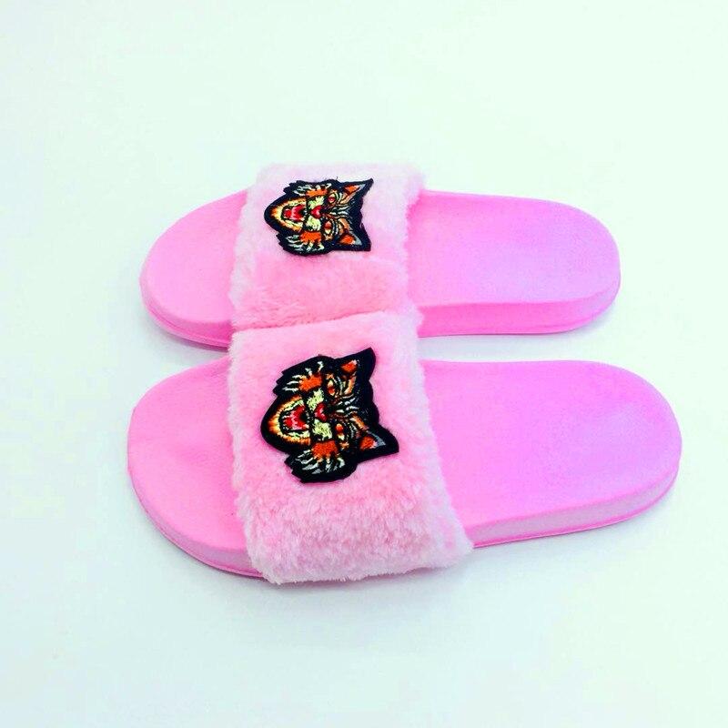 AoXunLong Neue Pelz Slides Flip-Flops Frauen Hausschuhe Bajan Terlik - Damenschuhe - Foto 3