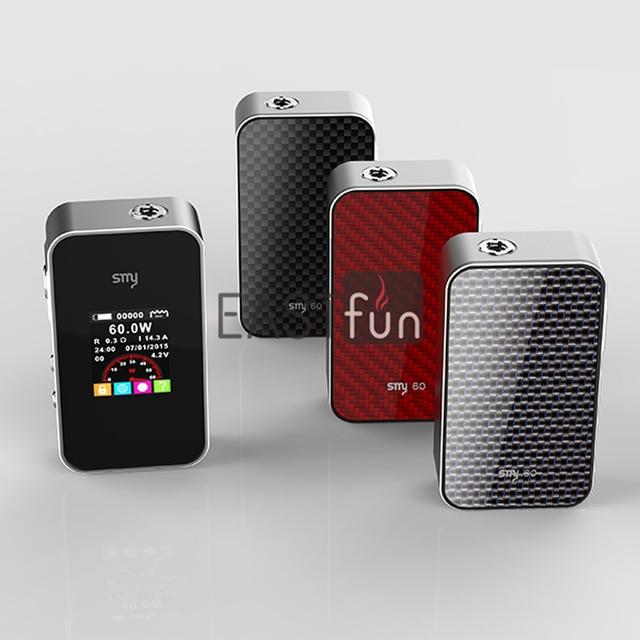 4 шт. Оригинальный SMY60 мод оптовая smy 60 Вт мод 5-60 Вт мощность электронной сигареты menchanical мод углеродного волокна мод SMY 60 вт