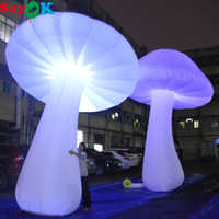 3/4/5m High Giant Inflatable Mushroom Glow in the Dark with 16 Colors LED Lights Changing for Event Wedding Party Decoration