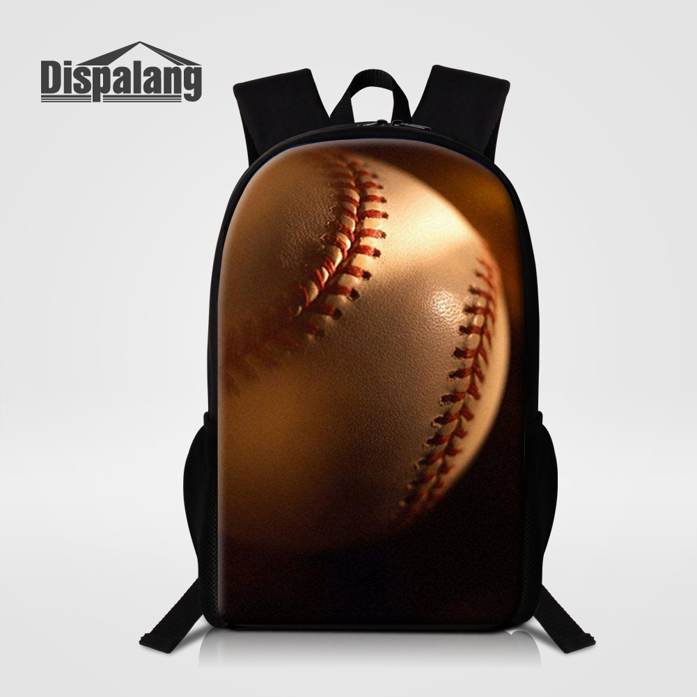 Dispalang Outdoors Sporty Backpack For Men Baseballs Printing School Bags For Teenage Boys Soccers Mochilas Basketballs Rucksack