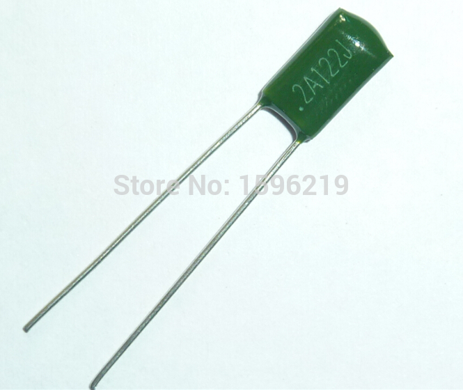 10pcs Mylar Film Capacitor 100V 2A122J 1200pF 1.2nF 2A122 5% Polyester Film Capacitor
